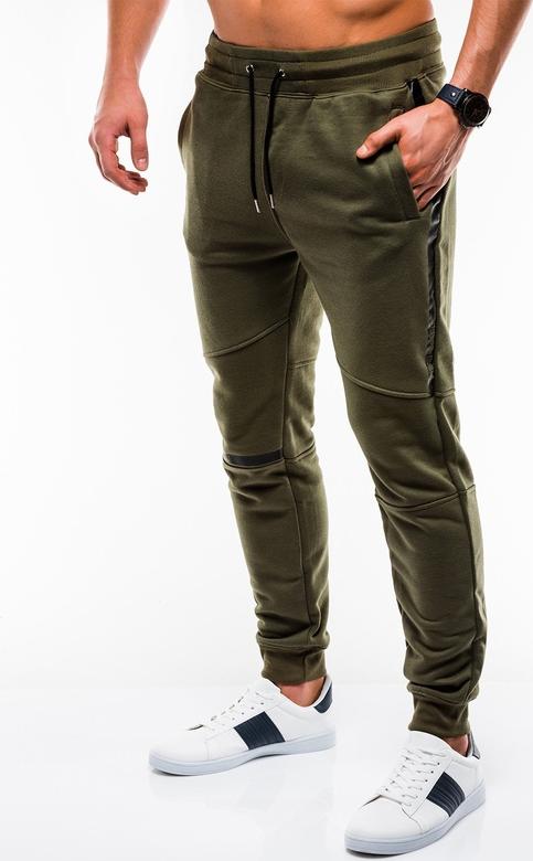 Zielone spodnie sportowe Edoti
