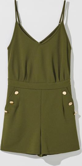 Zielony kombinezon Mohito z krótkimi nogawkami w stylu casual