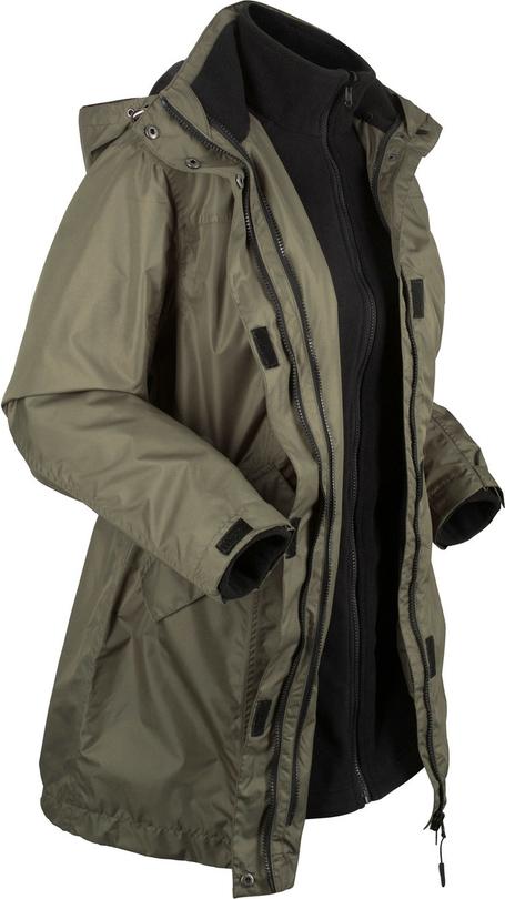 Zielony płaszcz bonprix bpc bonprix collection z plaru