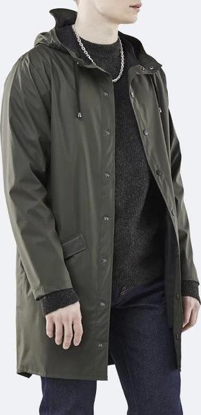 Zielony płaszcz męski Rains