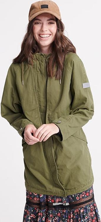 Zielony płaszcz Superdry
