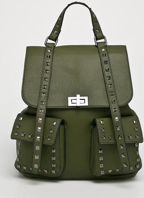 Zielony plecak Answear ze skóry
