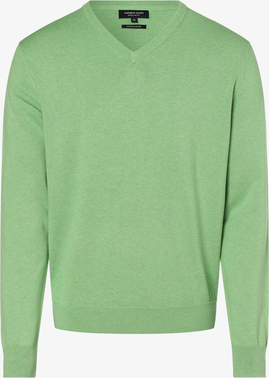 Zielony sweter Andrew James w stylu casual