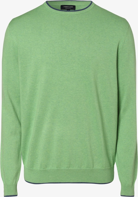 Zielony sweter Andrew James w stylu casual z dzianiny