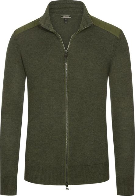 Zielony sweter Belstaff z dzianiny