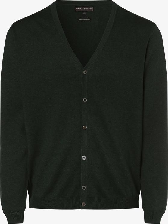 Zielony sweter Finshley & Harding z kaszmiru