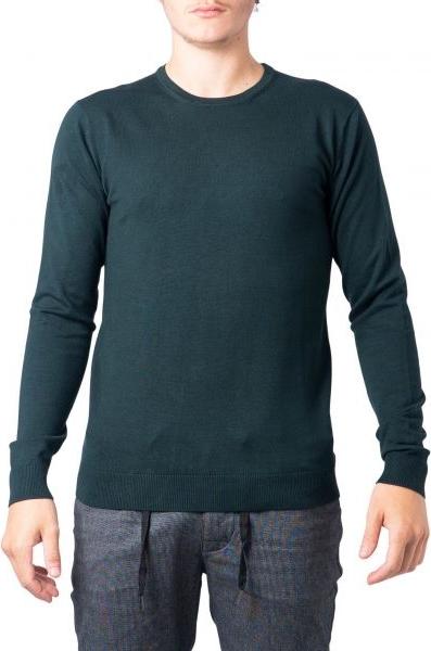 Zielony sweter Hydra Clothing z okrągłym dekoltem