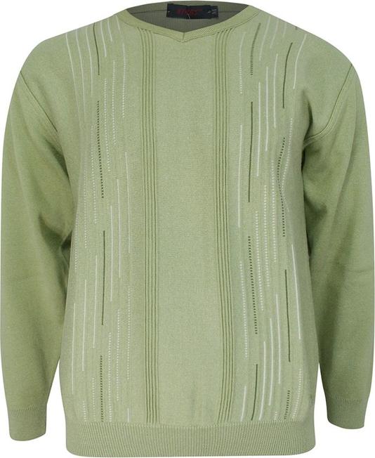 Zielony sweter Kings z okrągłym dekoltem w stylu casual