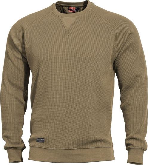 Zielony sweter Pentagon z bawełny w stylu casual