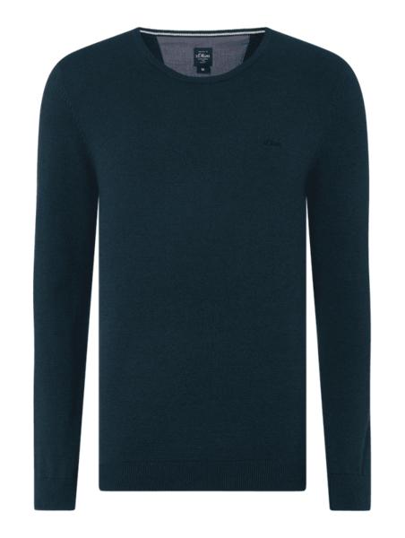 Zielony sweter S.Oliver Red Label z bawełny w stylu casual