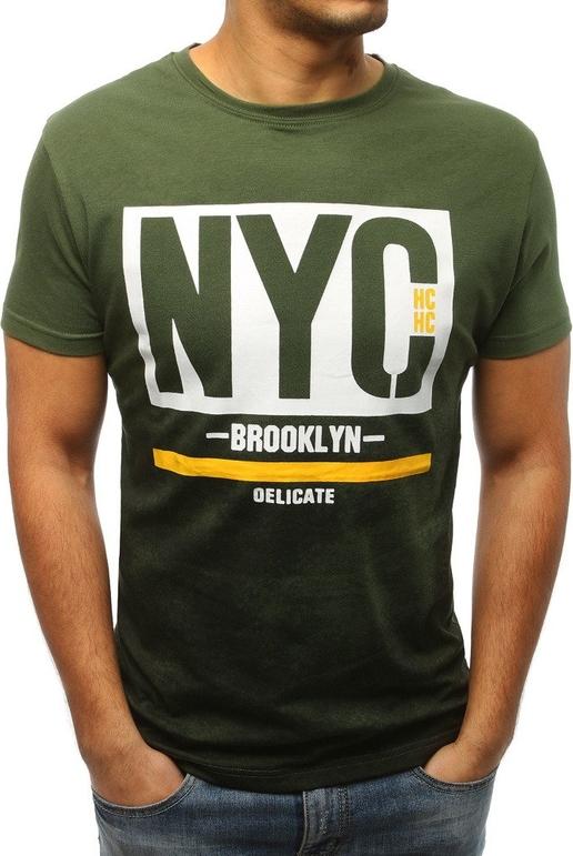 Zielony t-shirt Dstreet w młodzieżowym stylu