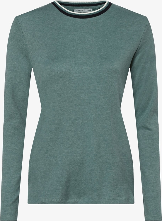 Zielony t shirt Marie Lund w stylu casual z okrągłym
