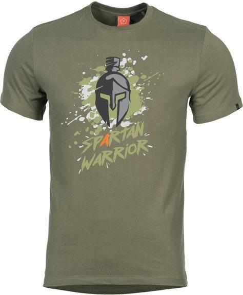 Zielony t-shirt Pentagon z bawełny w młodzieżowym stylu