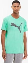 Zielony t-shirt Puma z nadrukiem