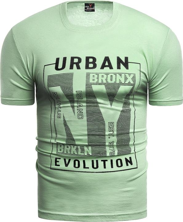 Zielony t-shirt Risardi w młodzieżowym stylu
