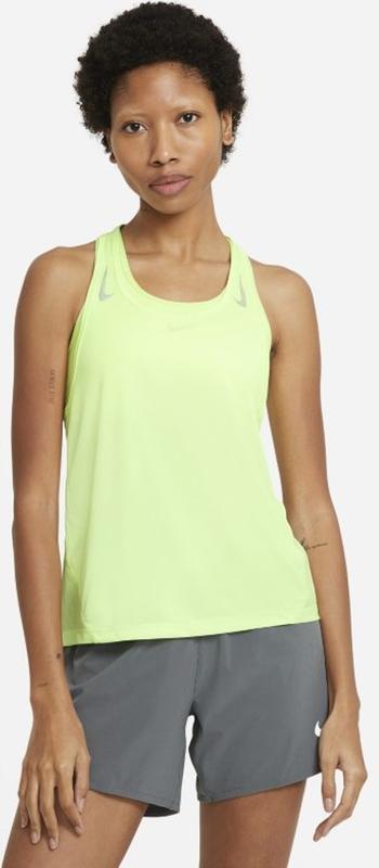 Zielony top Nike z okrągłym dekoltem