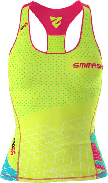 Zielony top Smmash z tkaniny z nadrukiem