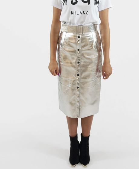 Złota spódnica MSGM midi