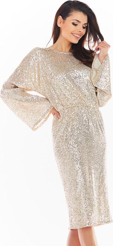 Złota sukienka Awama midi