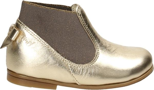 Złote buty dziecięce zimowe EMEL