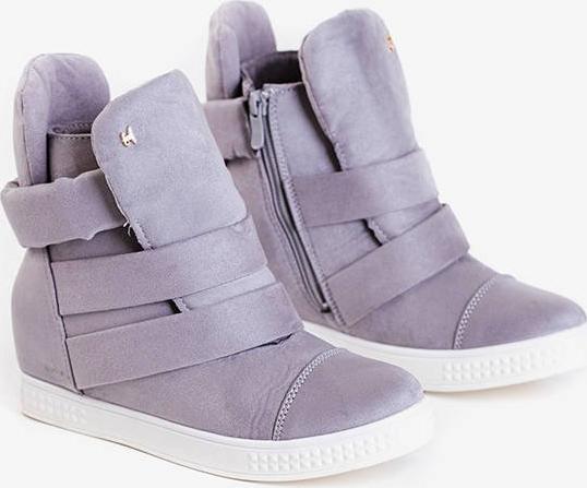 Złote buty sportowe Royalfashion.pl na rzepy