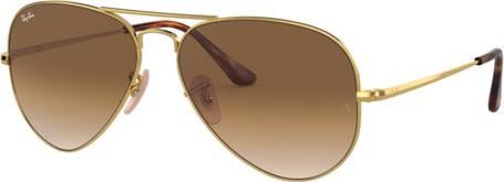 Złote okulary damskie Ray-Ban w stylu glamour