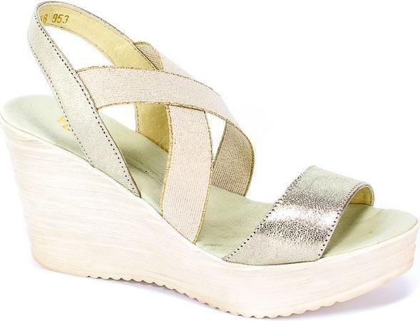 Złote sandały Dolce Pietro