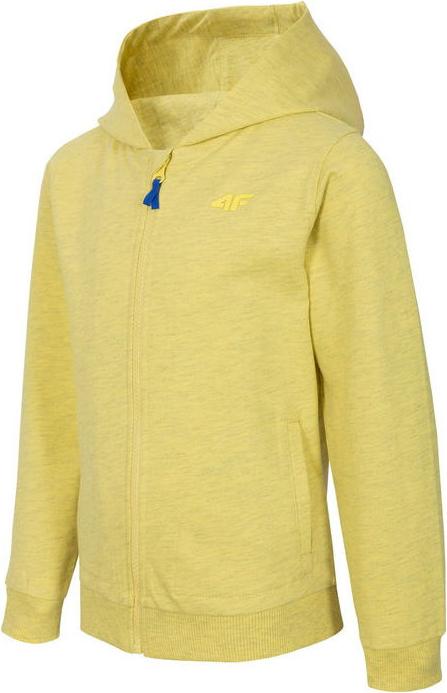 Żółta bluza dziecięca 4F z bawełny