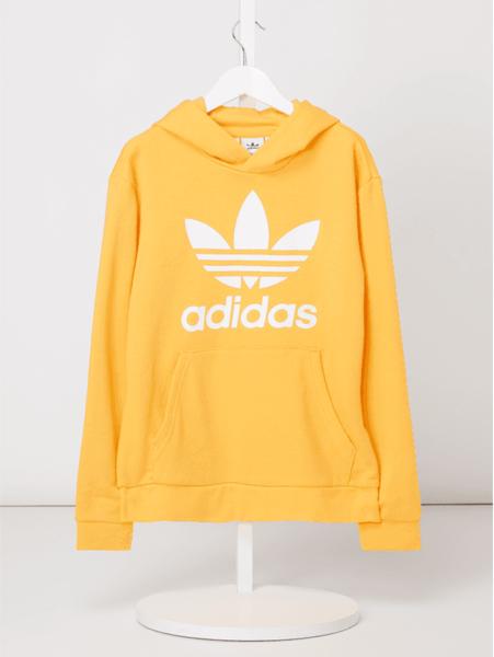 Żółta bluza dziecięca Adidas Originals z bawełny