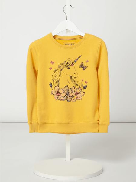 Żółta bluza dziecięca Review For Kids z bawełny