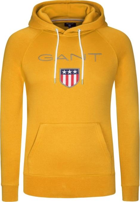 Żółta bluza Gant z bawełny