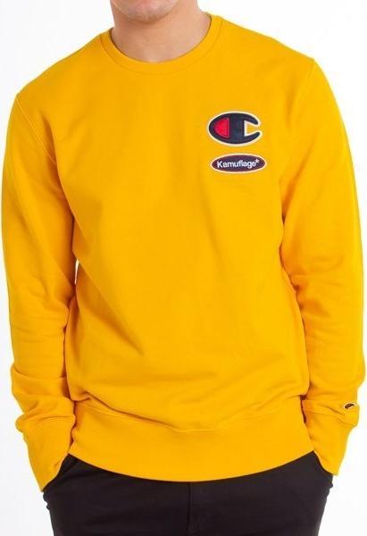 Żółta bluza Kamuflage w sportowym stylu z bawełny