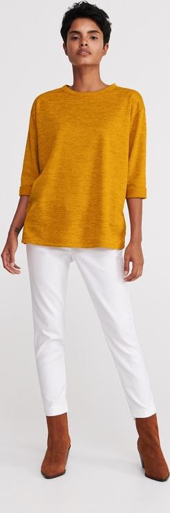 Żółta bluzka Reserved z okrągłym dekoltem