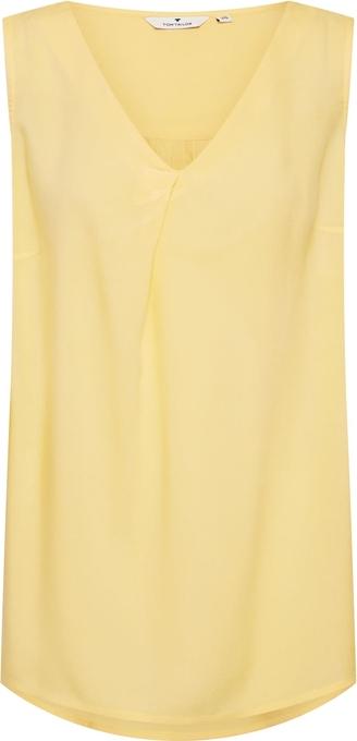 Żółta bluzka Tom Tailor bez rękawów
