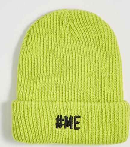 Żółta czapka Sinsay