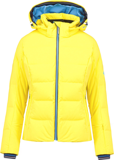 Żółta kurtka Descente z tkaniny krótka
