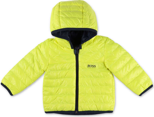 Żółta kurtka dziecięca Hugo Boss