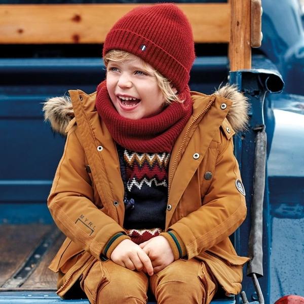Żółta kurtka dziecięca Mayoral dla chłopców