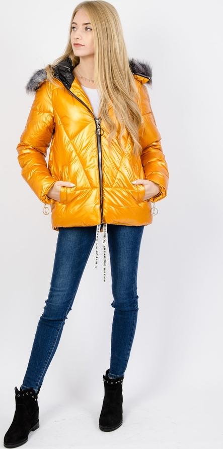 Żółta kurtka Olika krótka w stylu casual