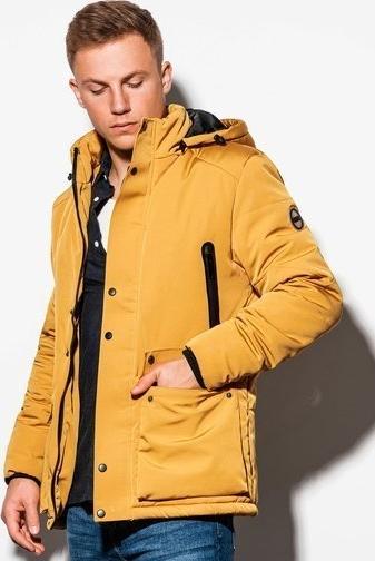 Żółta kurtka Ombre w stylu casual