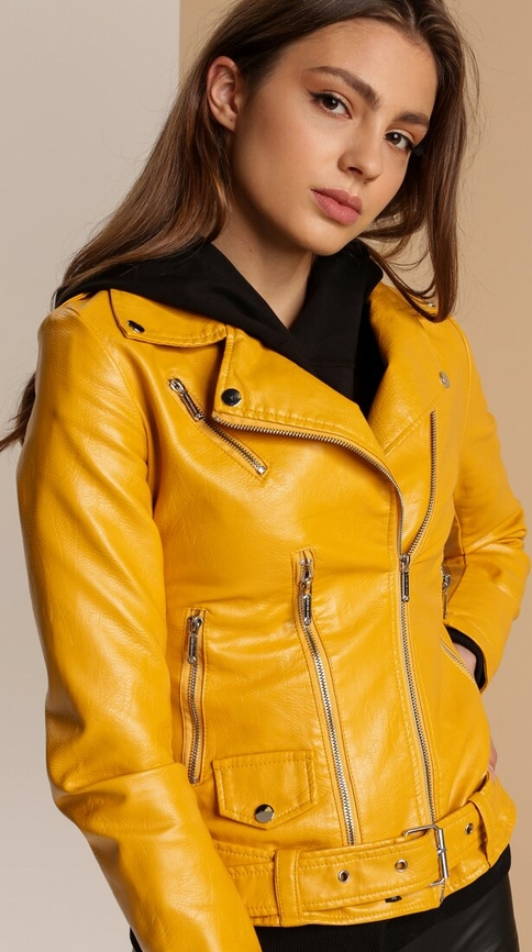 Żółta kurtka Renee krótka