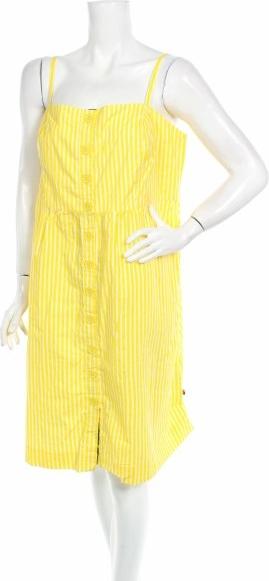 Żółta sukienka Boom Shankar na ramiączkach mini
