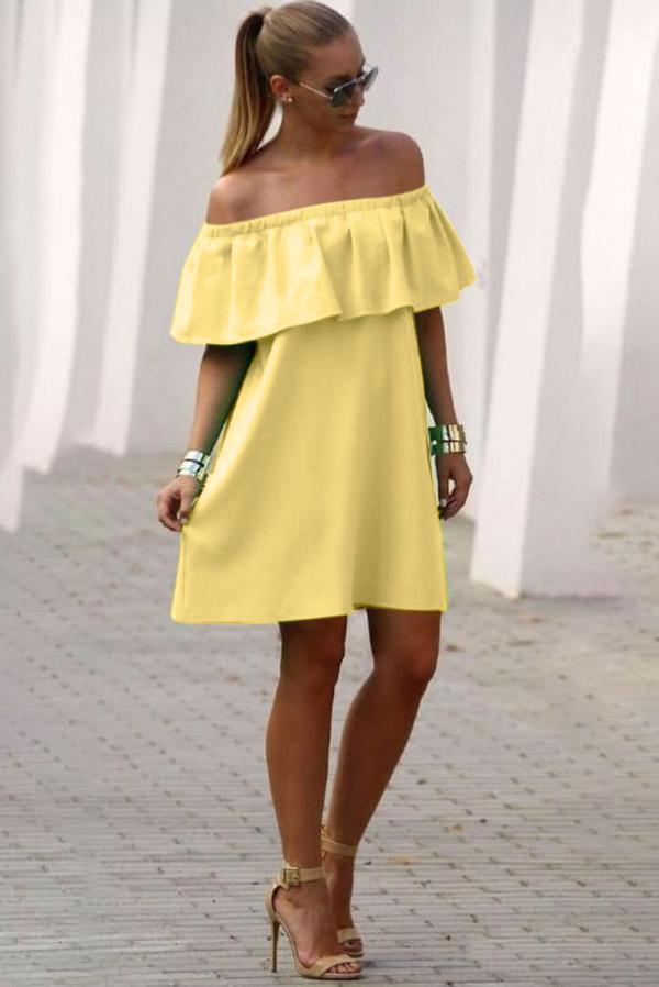 Żółta sukienka Ivet.pl midi