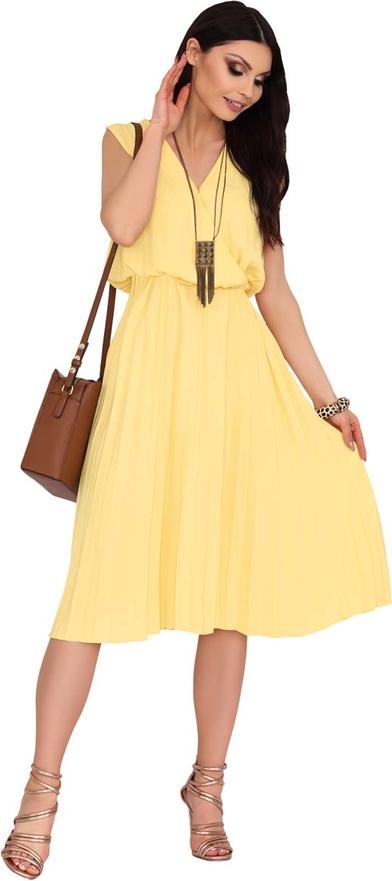 Żółta sukienka MERRIBEL midi bez rękawów