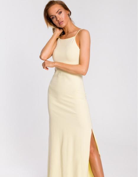 Żółta sukienka MOE maxi