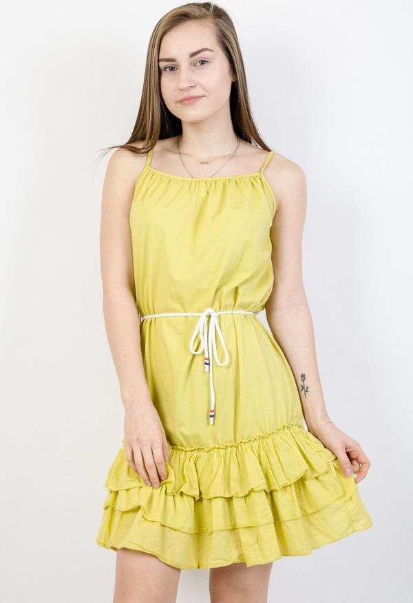 Żółta sukienka Olika rozkloszowana mini