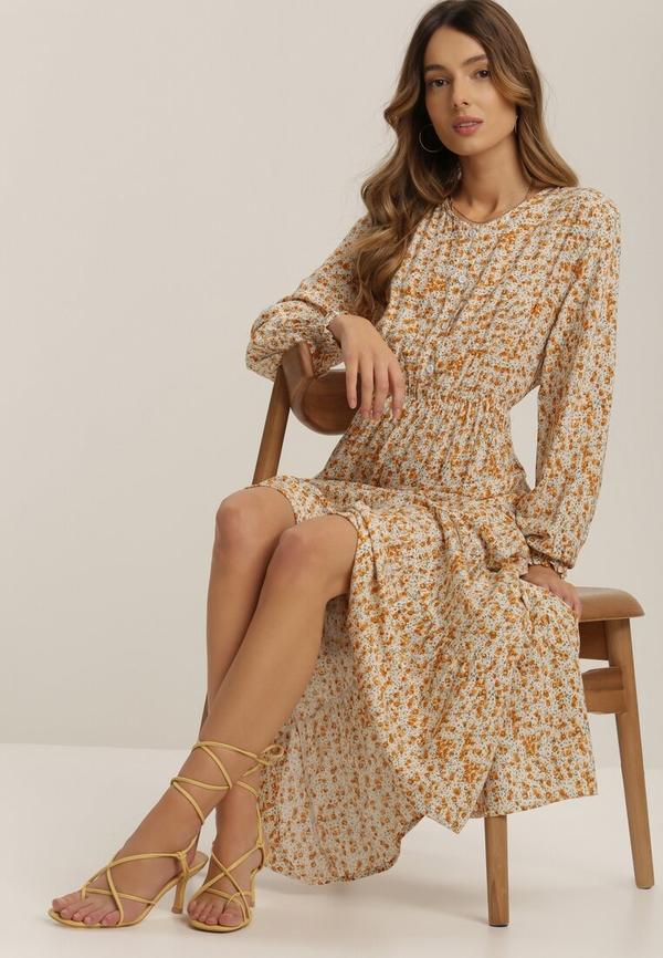 Żółta sukienka Renee midi