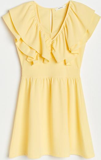 Żółta sukienka Reserved bez rękawów