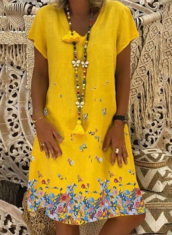 Żółta sukienka Sandbella