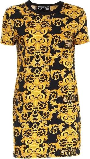 Żółta sukienka Versace Jeans mini